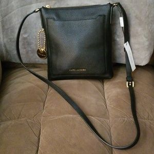 Marc Jacobs black leather crossbody handbag NWT